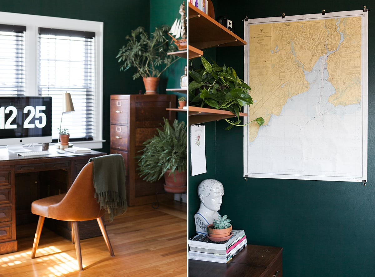 04 hunter green home office decor ideas emerald teal for Green decorations for home