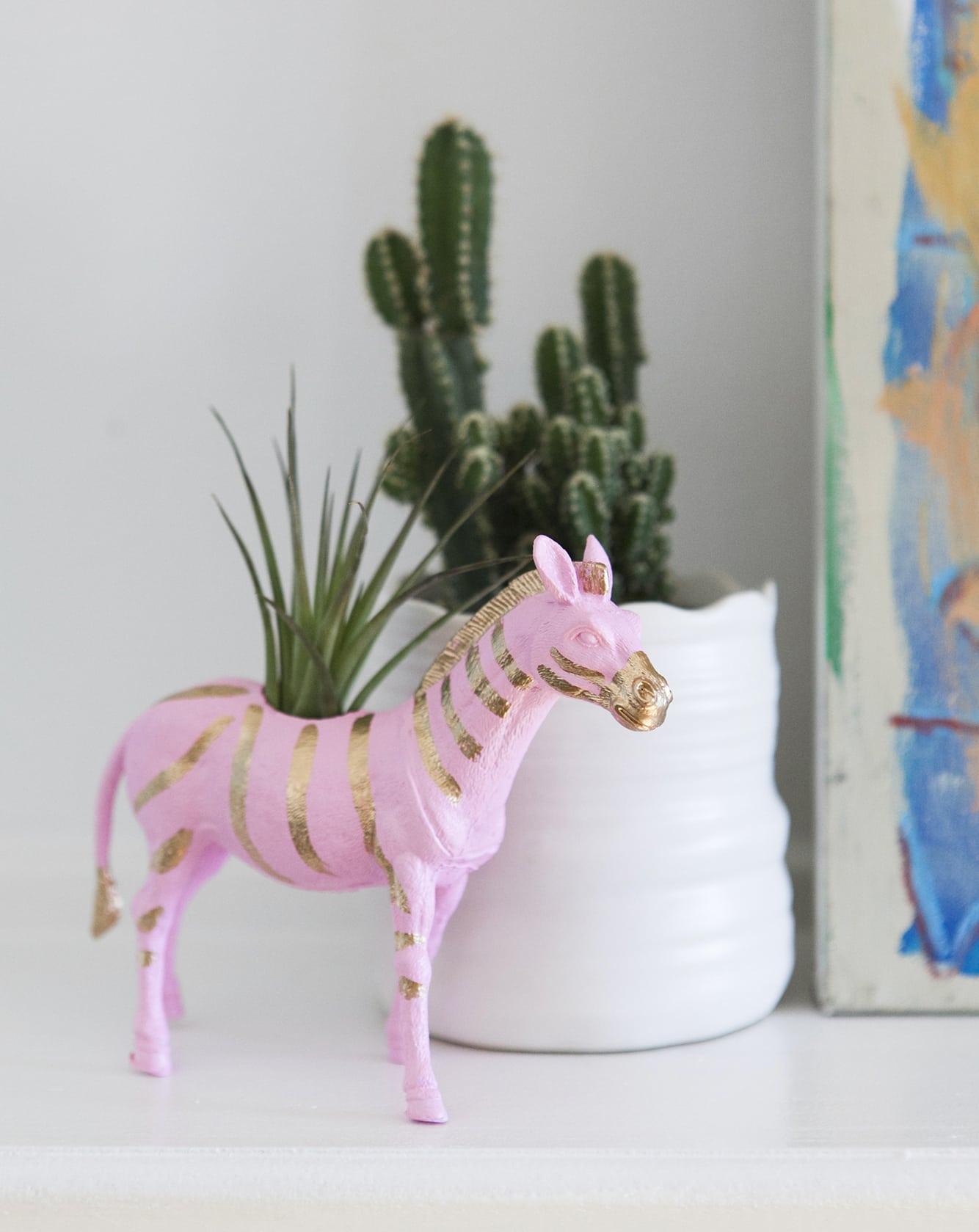 zebra-planter-mini-air-plant-colorful-decor-jessica-brigham-blog