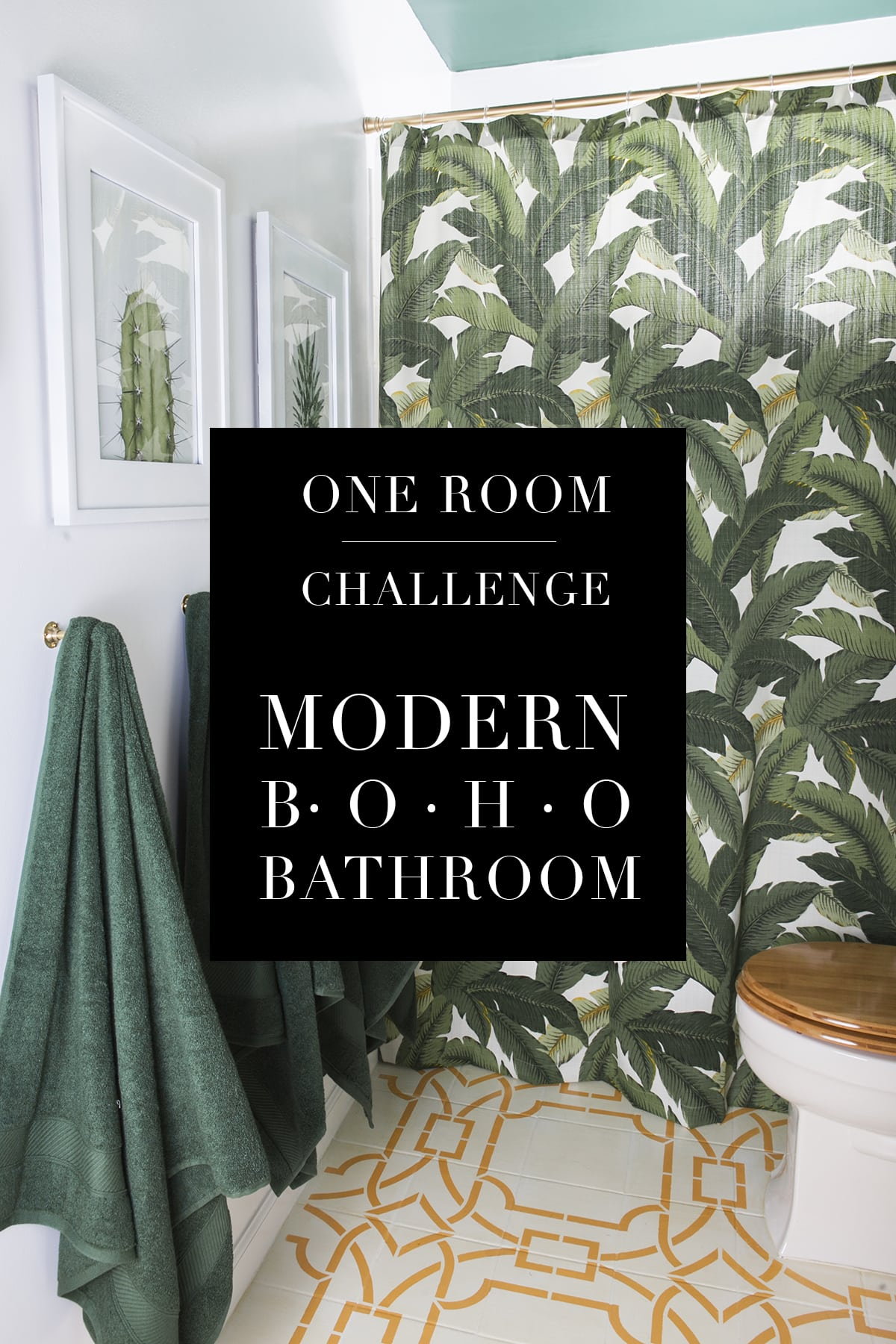 One Room Challenge | Modern Boho Bathroom | Boho Chic | Bathroom Remodel | Jessica Brigham | Magazine Ready for Life for Less