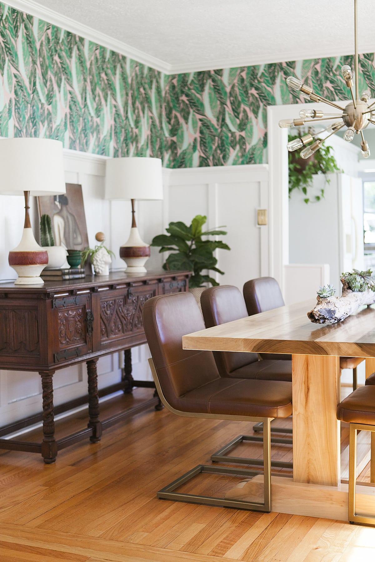 Before After Modern Vintage Dining Room Reveal