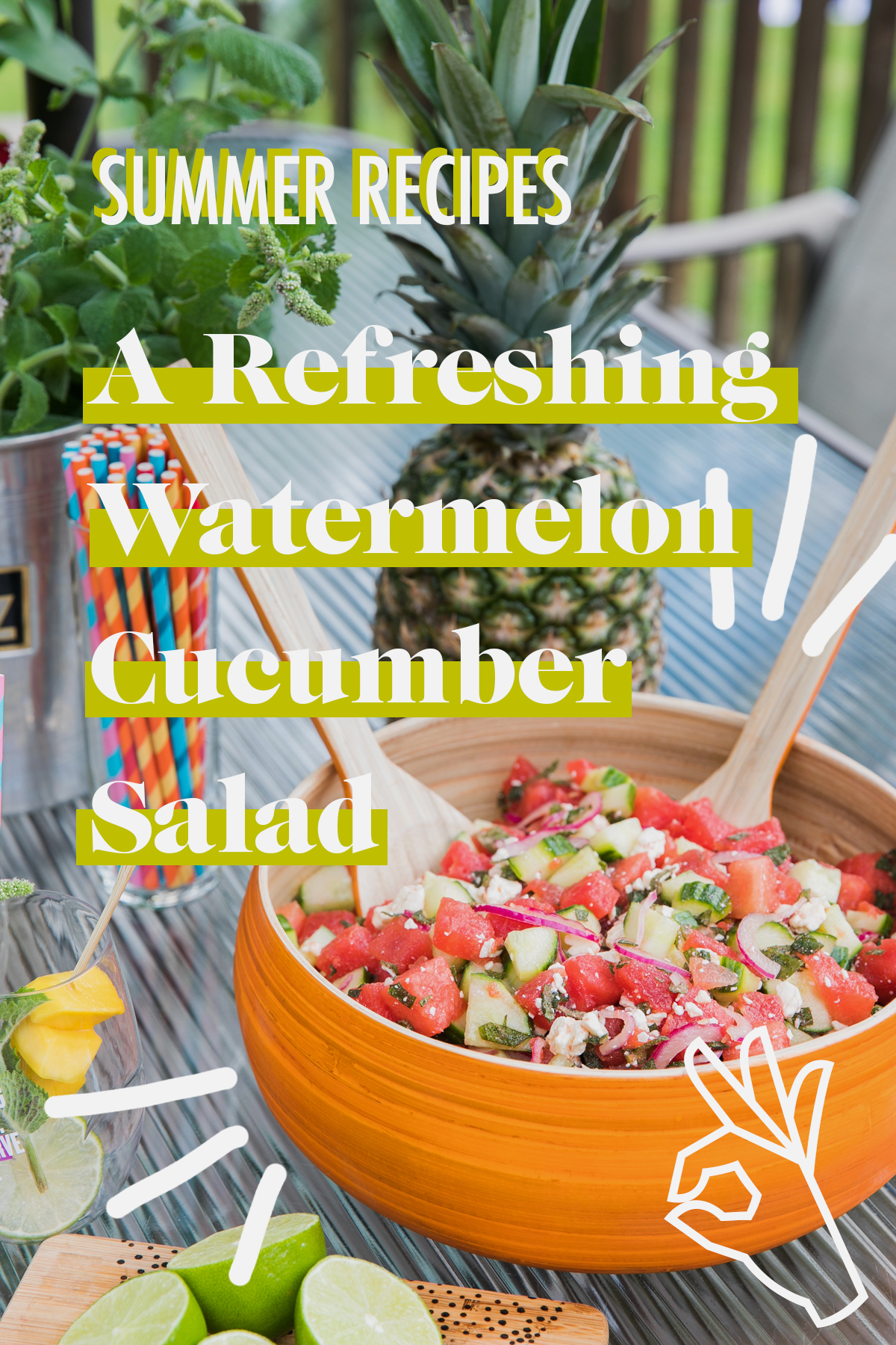 Refreshing Watermelon Cucumber Salad | Summer Recipes | Healthy Summer Recipes | Jessica Brigham | Magazine Ready for Life